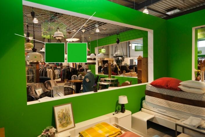 Restore Ede groene muur kleurwaarneming
